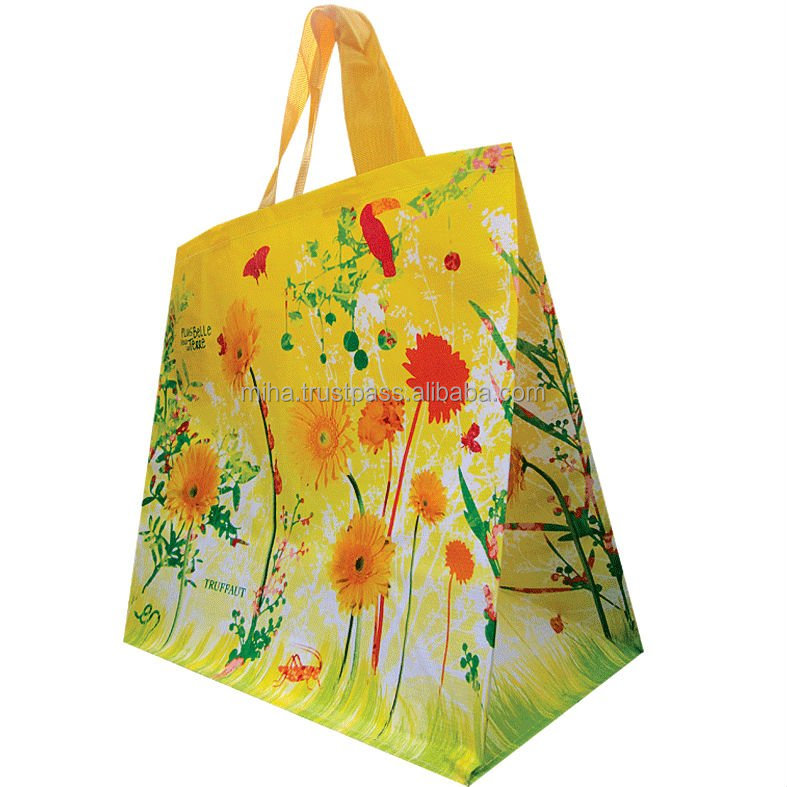 Lady shopping bag made pp Rpet