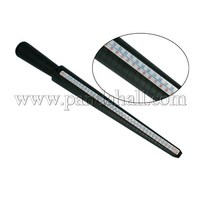 Plastic Ring Size Stick, Ring Mandrel for DIY Jewelry Ring Making, Black, about 12~26mm wide, 270mm long TOOL-A002-1