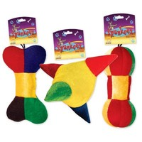 "SPUNKEEZ PLUSH TRI COLOR 7.5"" ASST. #35020"