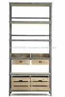 Industrial Style Bookcase with Drawer