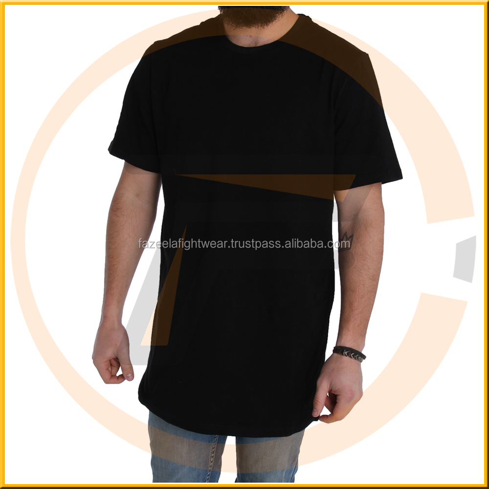 turkish cheap clothes combed cotton t shirt round bottom long line t shirt men with print and zips