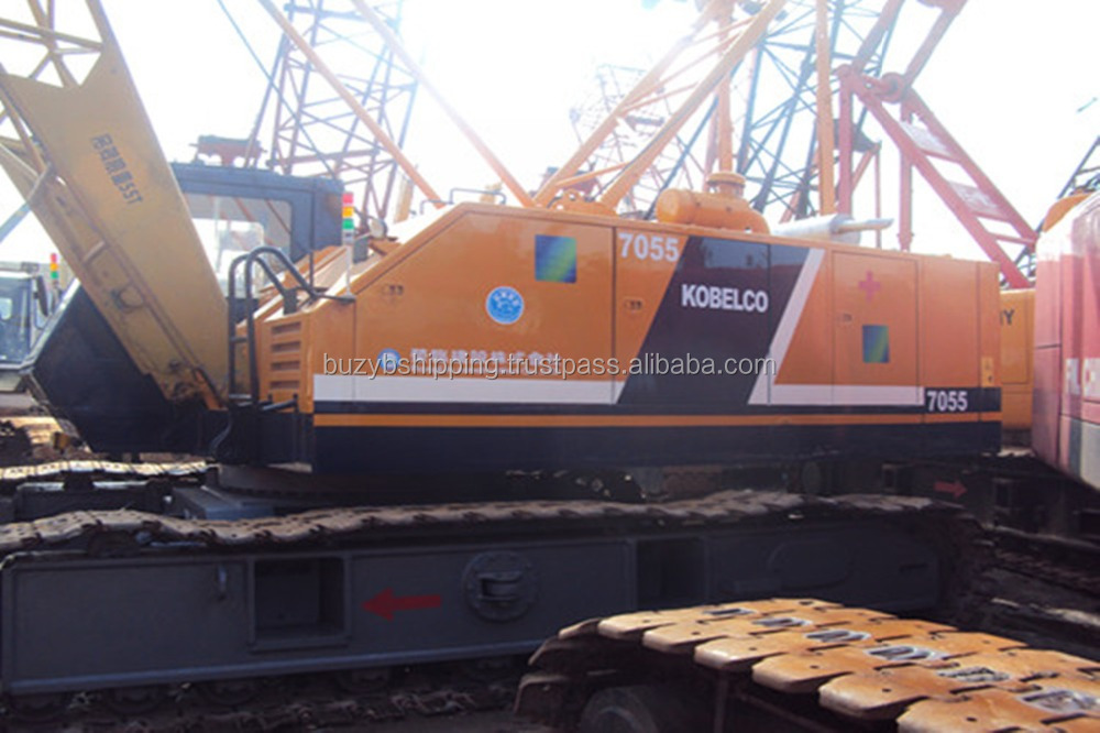 Used Japanese crawler crane kobelco 55ton 7055, excellent working condition!