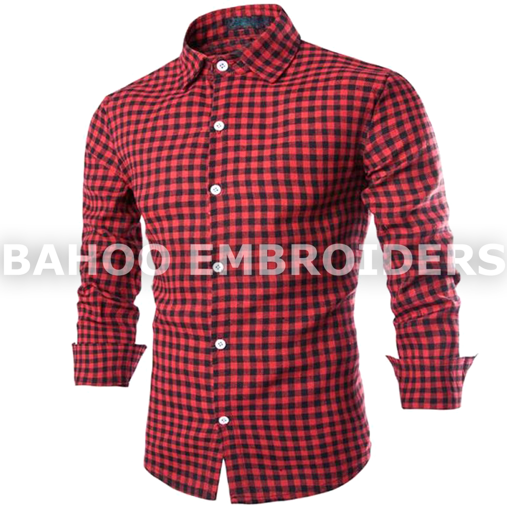 Men Long Sleeve Plaid Dress Check Shirt | Casual Shirts