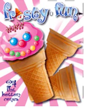 FROSTY FUN FLAT BOTTOM CONES