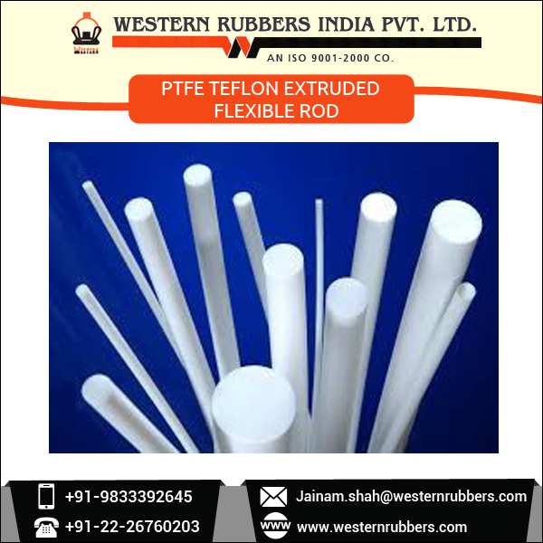 Bulk Manufacture and Supplier PTFE Teflon Extruded Flexible Rod for Factory use