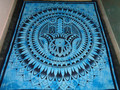 new holy hand printed tapestry hamsa
