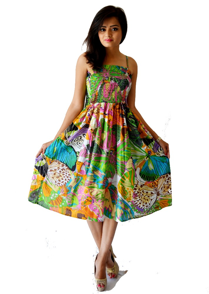 PRINTED CASUAL DRESS/latest design in casual dress