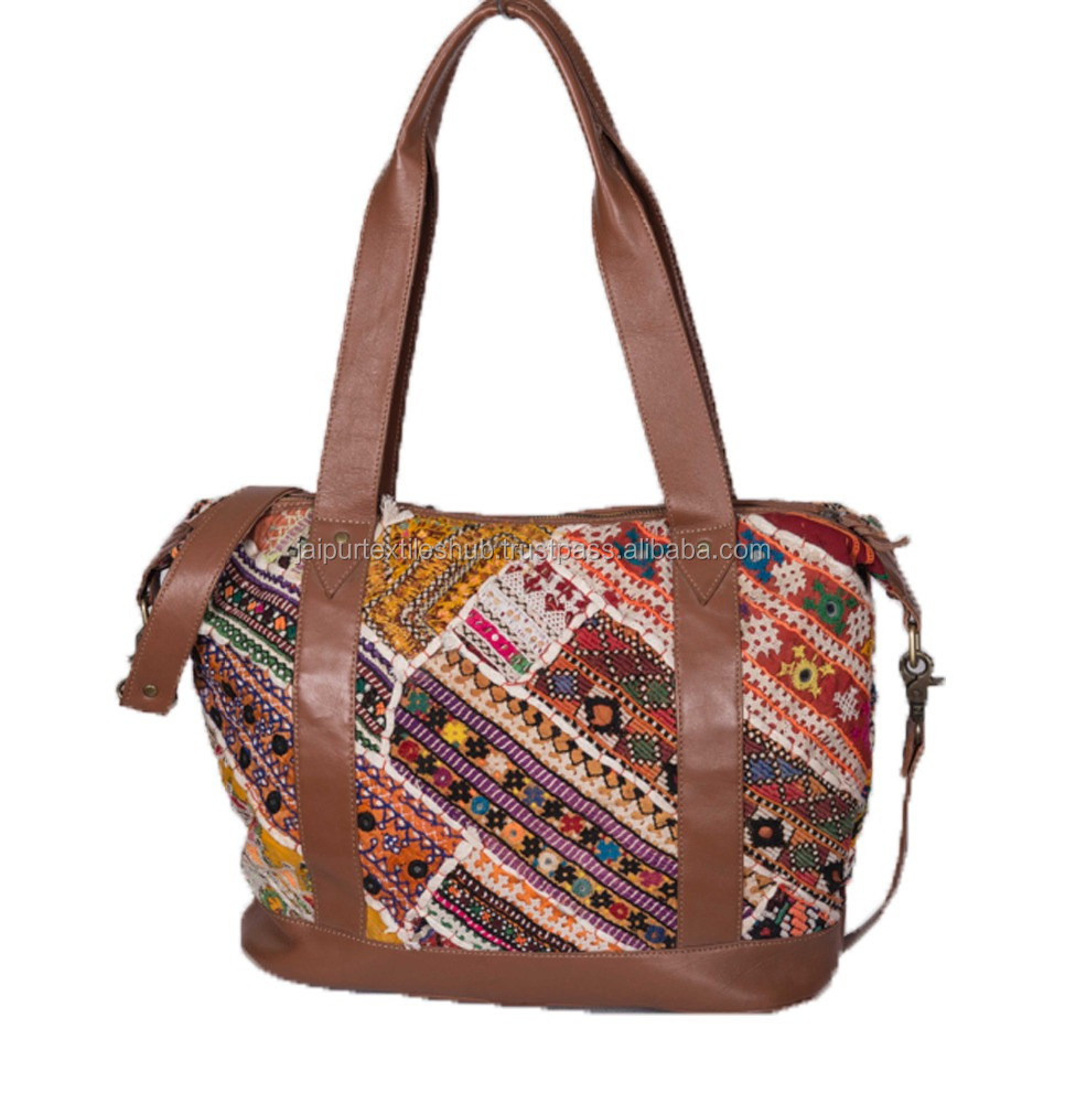 Ladies Genuine Leather Crafted Vintage Banjara Beautiful Hobo Tote Bag