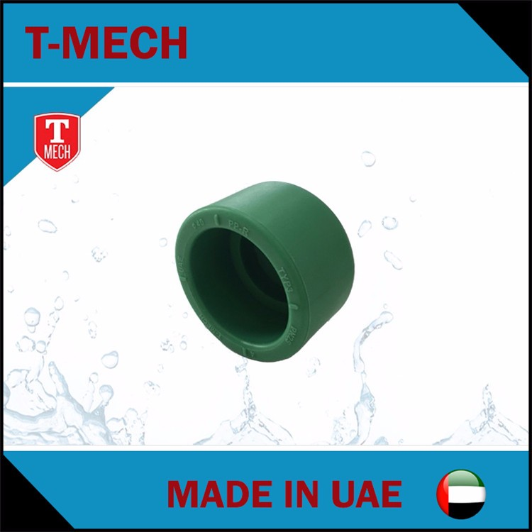 T-Mech ppr fitting end cap made in UAE