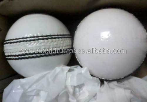 Pure White Leather Wholesale Cricket Ball