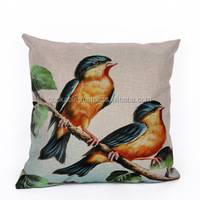 Decorative Throw Pillows Lovely Birds Printing Cushion Cover Car Pillow Case Custom Cushion Cover for Sofa