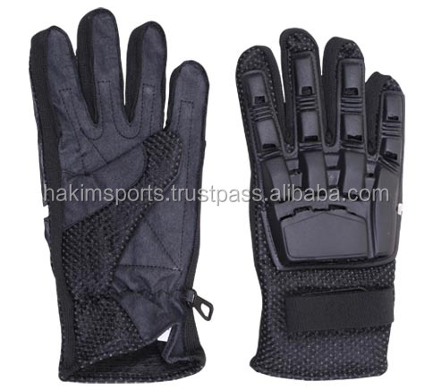 Full Fingers Gloves Cotton with plastic protector, paintball,Sports , PayPal Available