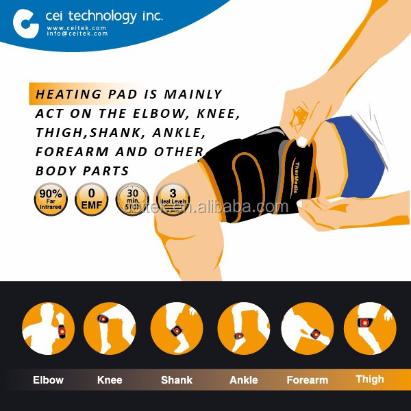 NEW Carbon Fiber Electric Body Thigh Knee Massage Heating Pads