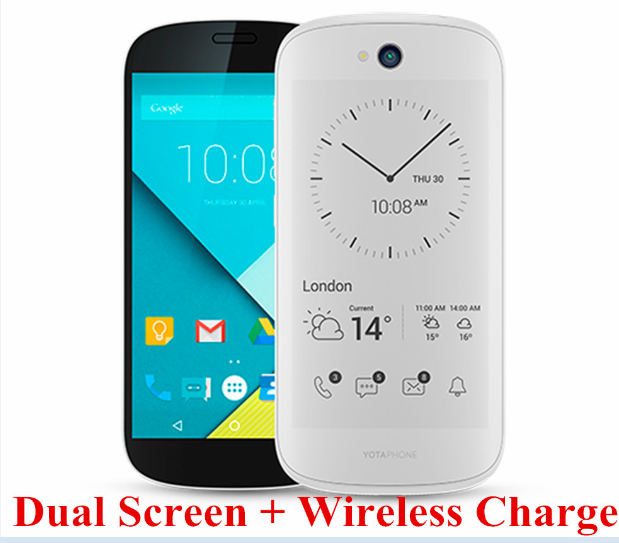 "EU DHL Shipping Yota YotaPhone 2 Snapdragon 800 Octa core 2.2GHz Smartphone 5""2GB 32GB Wireless Charge NFC GPS"