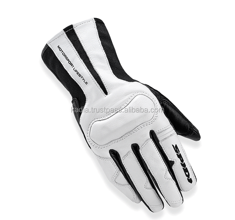 White & Black Motor Cross Gloves