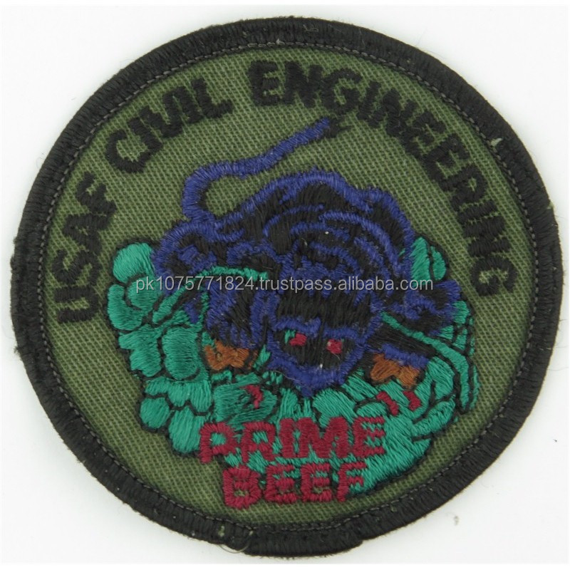 Machine embroidery badges USAF Civil Engineering - Prime Beef Subdued Embroidered United States Air Force