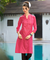 Jaipur Pink Color Wholesaler Kurti | Ladies Plain Cotton Kurti