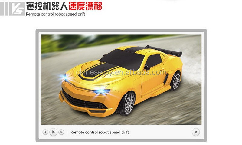 1:14 Camaro 2.4Ghz Battle Car Transform Toy Robot 6 Channel RC Transforming Robot Toy