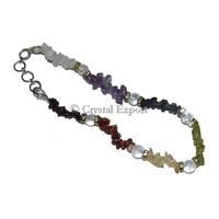 7 Chakra Chips Anklet - Buy Gemstone Anklet - Crystal Export