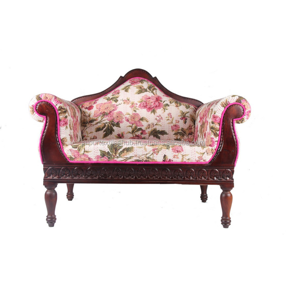 cotton solid wood indian arm chair wholesale manufacturer