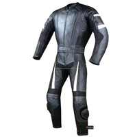 2PC HUMP MOTORCYCLE 2 PC LEATHER RACING SUIT ARMOR (SB)02