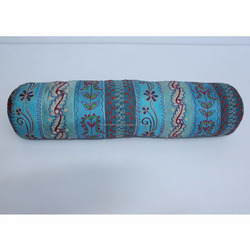 Hot Selling Design Bolster Pillow Machine Aari Embroidery Poly Silk with Filling