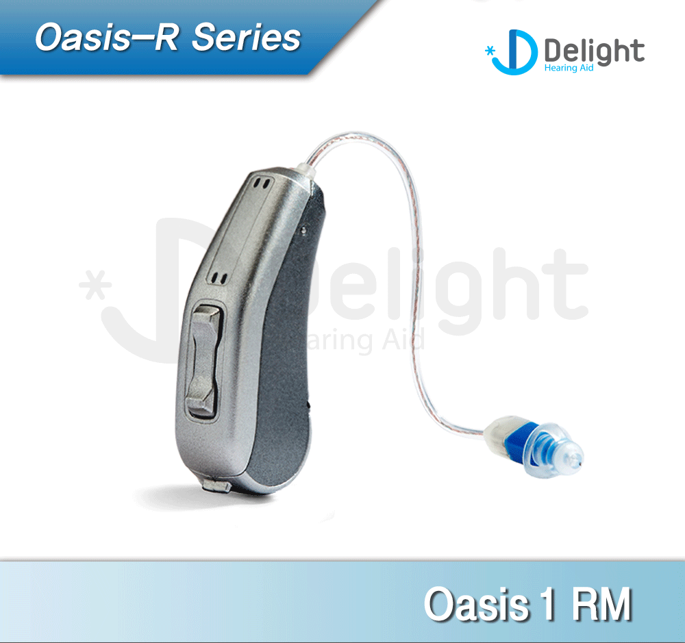 """Oasis"" 2016 New Design RIC Hearing Aid Economic DSP Processor P Receiver (Double Closed Dome)"