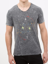 Men's Cheap High Quality V-Neck Printed T-Shirts