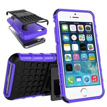 Hot sale ! wholesale Rugged Tire Shockproof Hybrid Impact Armor Rugged Holster Case Stand Cover For iPhone 5/5s/5 se 6/6s/6 plus
