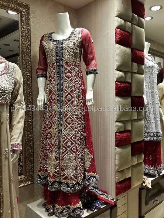 new design muslim bridal wedding dress of pakistani fancy wedding dress 2016