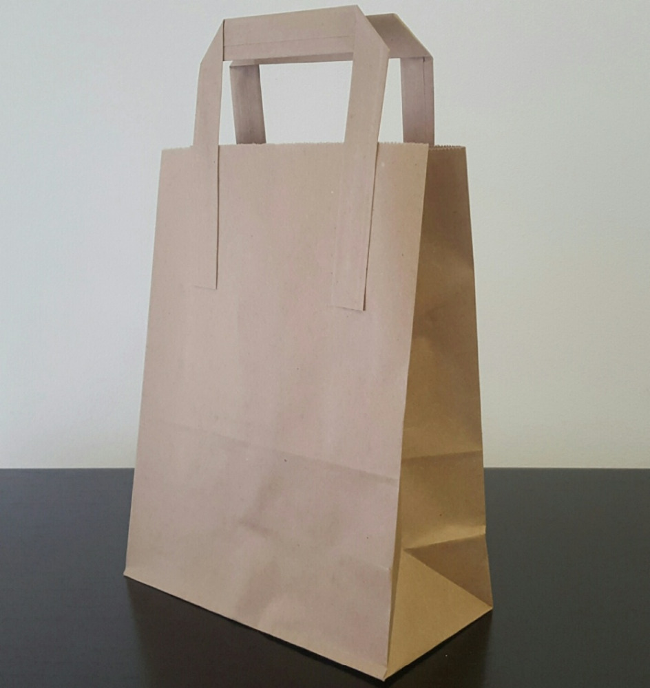 Kraft Paper bags with flat handles