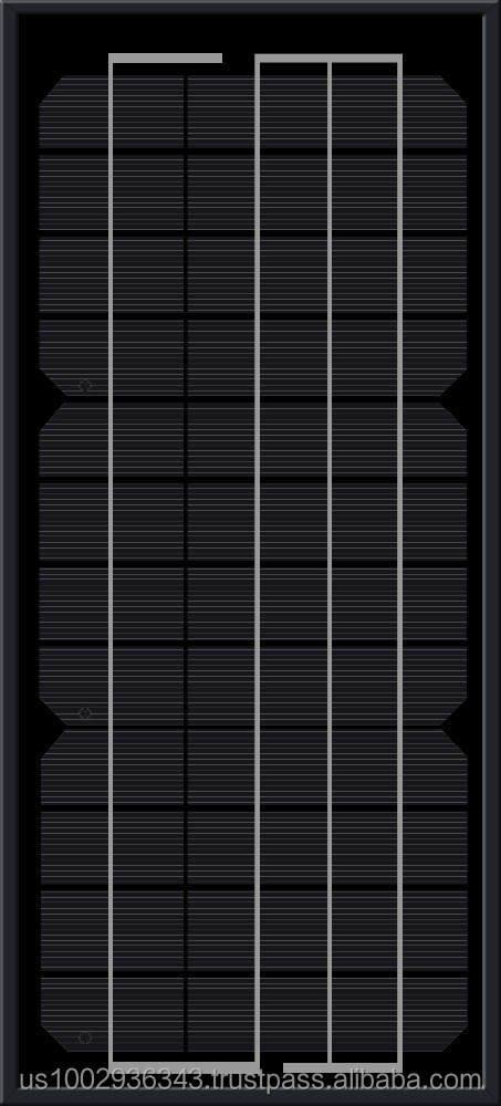 ACOPOWER 10w Monocrystalline Photovoltaic PV All Black Solar Panel Module 12v Battery Charging