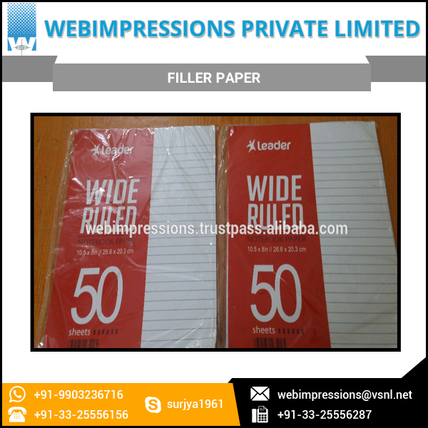 Filler Paper 100 Loose Sheets Available for Low Price