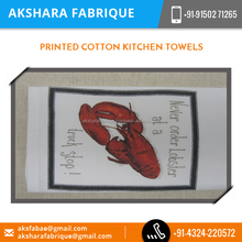 Printed Cotton Kitchen Towels Available in Various Colours and Textures