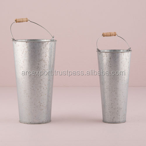 tall galvanized planters for garden