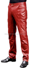 Fashionable Leather Pant,Red Pant For Men