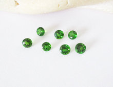 Natural Chrome Diopside 2.5 mm Round faceted cut loose gemstone whole sale lot