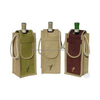 2016 New Design Eco Promotional High Quality Packing Jute Wine Bag