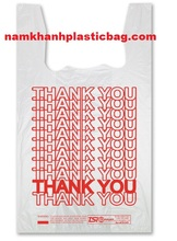 HDPE cheap price shopping thank you t shirt plastic bag