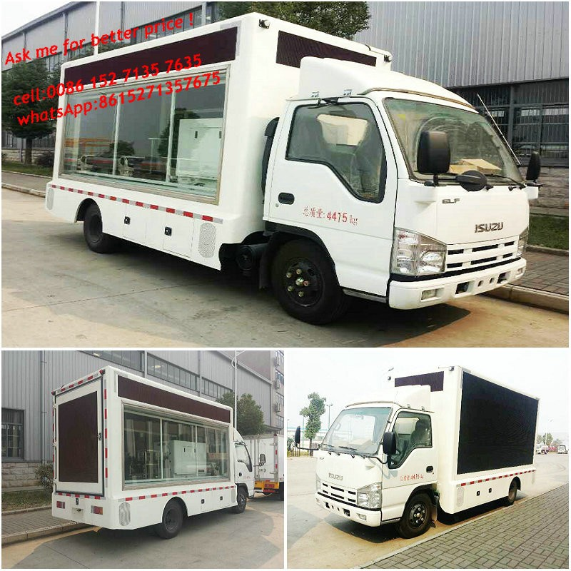 Outdoor advertising truck with Led Tv mobile billboard truck P6,P8,P10