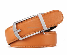 Men's Genuine Leather Ratchet Dress Belt with Automatic Buckle