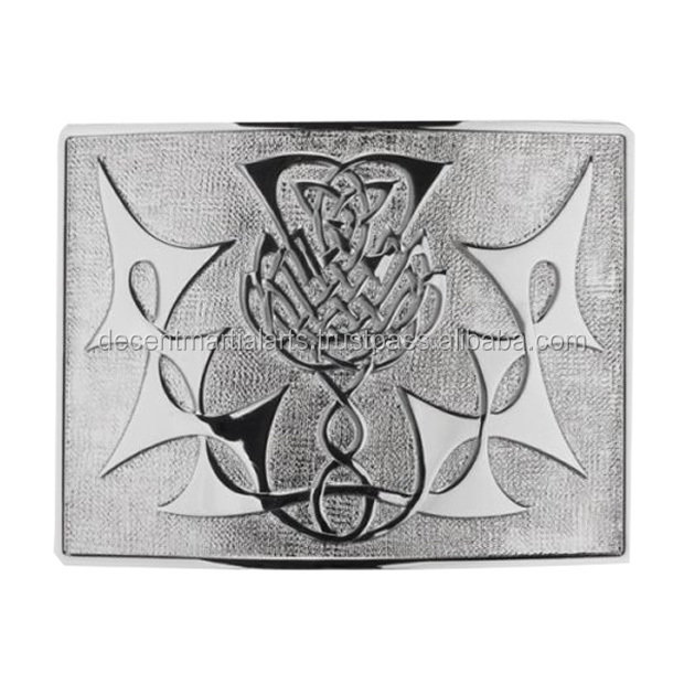 Scottish Highland Thistle Antique Kilt Belt Buckle