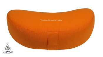 Ecological Meditation Crescent Shape Cushion / Half Moon Yoga Cushion