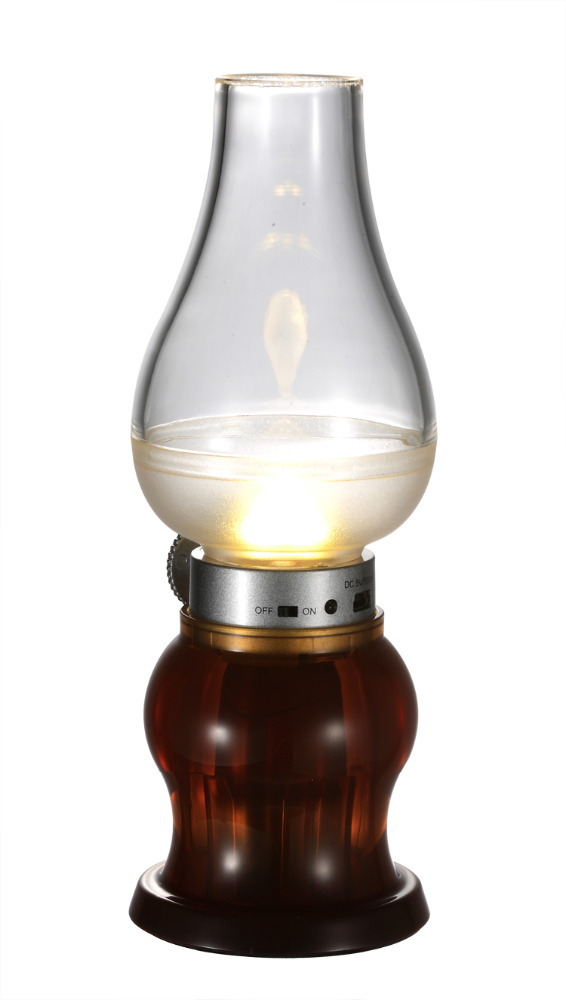 Creative Kerosene Lamp Retro Decorative Lamp Control Blowing Rechargeable LED Night Lght Home Bedroom Study Desk Lamps