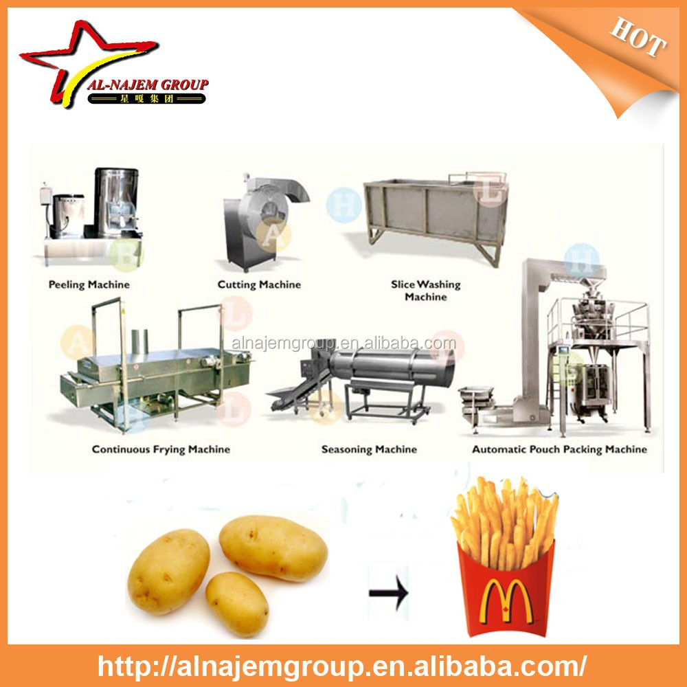 High performance Chinese Manufacturer potato french fries machine