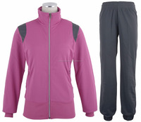 Latest Design Sports Mens Sport Tracksuit Fleece Track Suits color Pink and Dark Grey