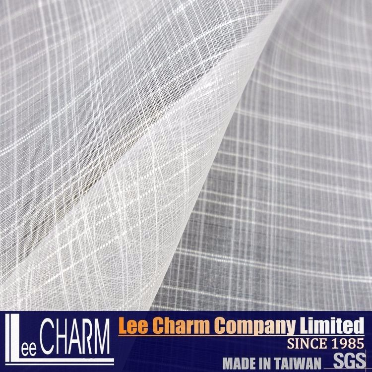 LCSH016 Polyester Organza Check Design Fabric