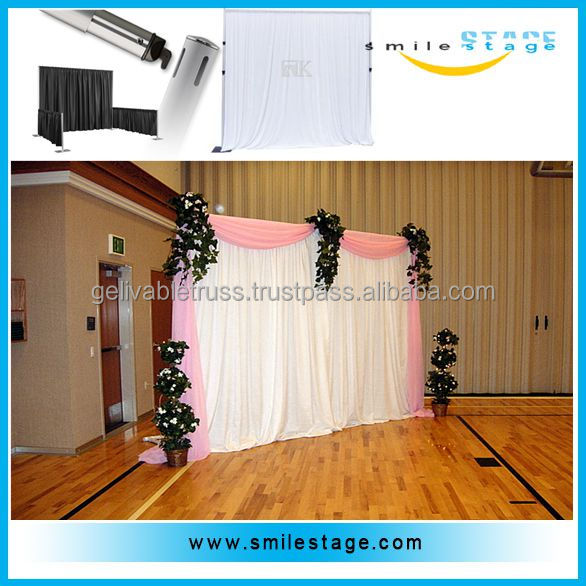 telescopic pipes and drapes wedding backdrop pole and drape systems