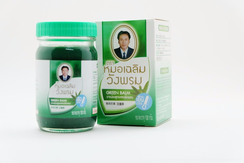 Product from Thailand!! Herbal Green Balm 100g Wang Prom Thai Massage