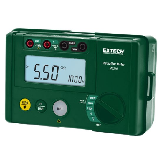 Extech MG310-NIST, Digital Insulation Tester with NIST Certificate